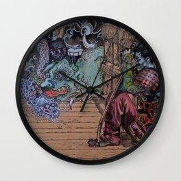 Resting Samurai Girl Wall Clock
