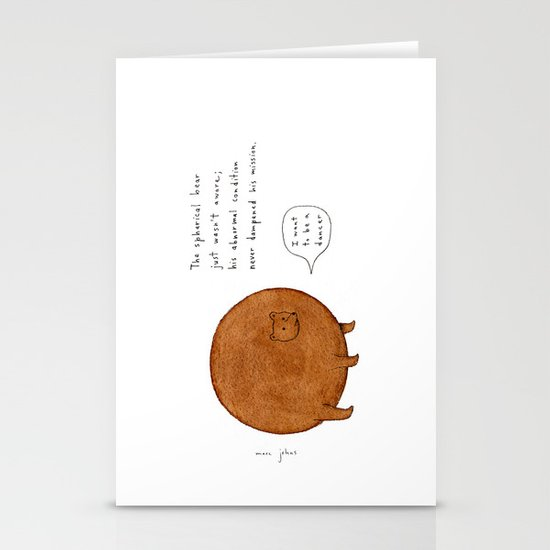 the spherical bear Stationery Cards
