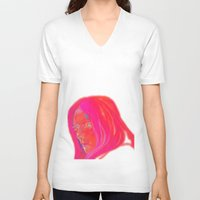 nordic V-neck T-shirts featuring Nordic Kin by Erin Garey