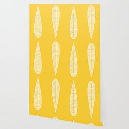 Golden Gum Leaves Wallpaper
