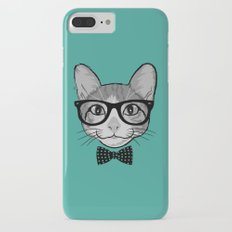 Cat Hipster with Polka Dots Bow Tie Slim Case iPhone 7 Plus