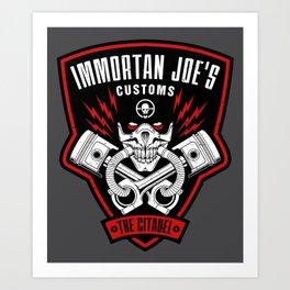 Immortan Joe's Customs Art Print
