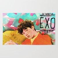 exo Area & Throw Rugs featuring Kai by JudithzzYuko