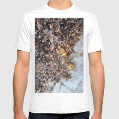 autumn White MEDIUM Mens Fitted Tee