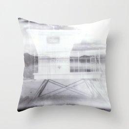 Lifeguard Double Exposure Throw Pillow