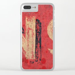 No non Red Clear iPhone Case