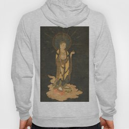 Welcoming Descent of Jizo 13th Century Japanese Scroll Hoody