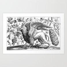 A griffin. Art Print
