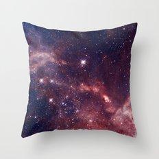 Magellanic cloud galaxy Throw Pillow