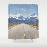 argentina Shower Curtains featuring El Chaltén - Patagonia Argentina by Clara Seehausen