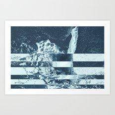 Swell Zone Splatter Ice Art Print
