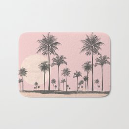 Tropical Sunset In Peach Coral Pastel Colors Badematte