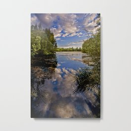 Fenland Reflections Metal Print
