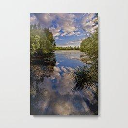 Fenland Reflections Metal Print