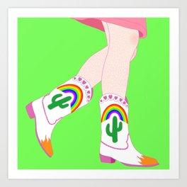 Queer Cowboy Boots Art Print