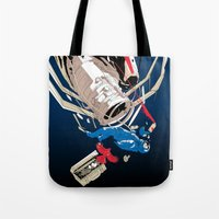 gravity Tote Bags featuring gravity by wonman kim