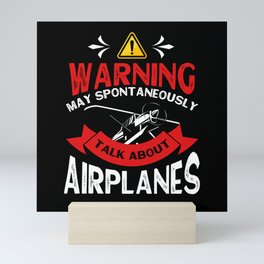 Aviator Airplane Flying Runway Mini Art Print