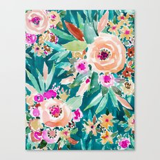 GOOD LIFE Colorful Floral Canvas Print