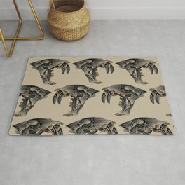 Ancient Warrior (Sabertooth Skull) Rug