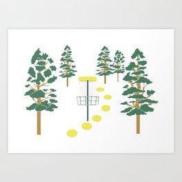 Disc Golf Stupid Trees Woods Men Women Court Gift Art Print