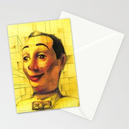 Pee Wee Herman Figurine ilustration Stationery Cards
