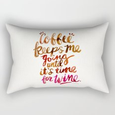 Coffee & Wine – Brown & Magenta Ombré Rectangular Pillow
