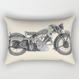 1935 Panther Motorcycle illustration Rectangular Pillow