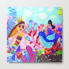 Mermaid / Under the sea Metal Print