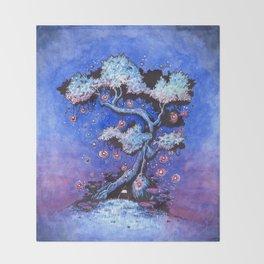 Ninja and the tree of lights Throw Blanket
