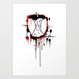 Rotton to the Core Art Print