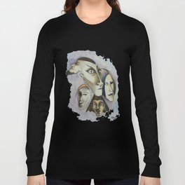 Strange Faces Long Sleeve T-shirt