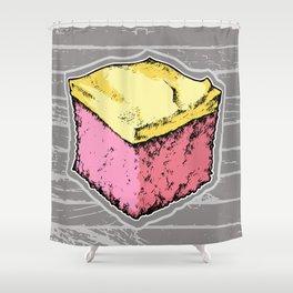Pink Lemonade Cake Shower Curtain