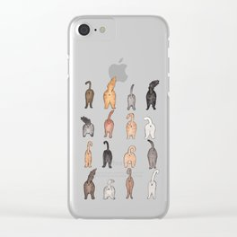 Cat butts Clear iPhone Case