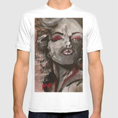 Marilyn Monroe XOXO Mens Fitted Tee White MEDIUM