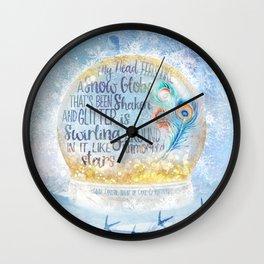 Like a Snow Globe Wall Clock