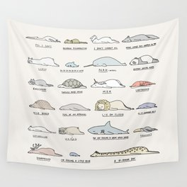 Moody Animals batch 2 Wall Tapestry