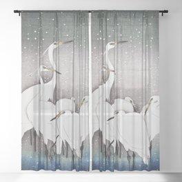 Egrets Sheer Curtain