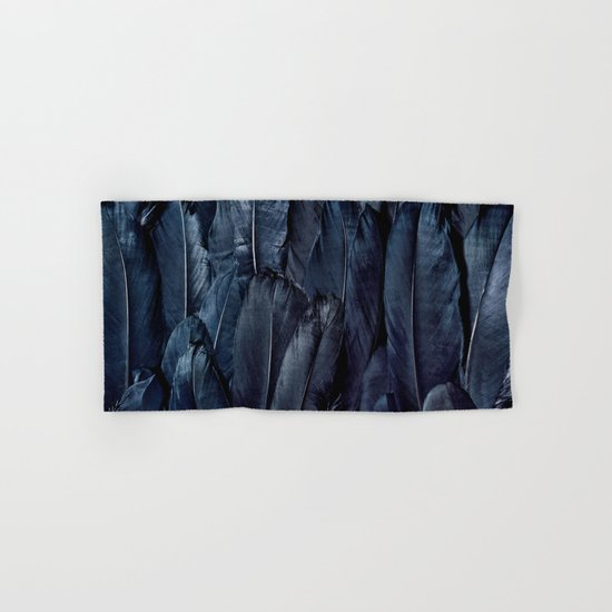 Black Feather Hand & Bath Towel