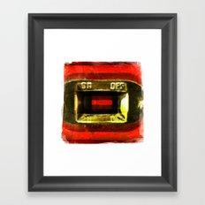 on off Framed Art Print