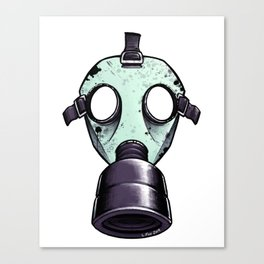 Gas Mask in Mint Canvas Print