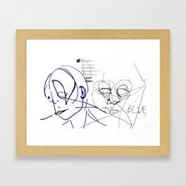 blue(bop) Framed Art Print