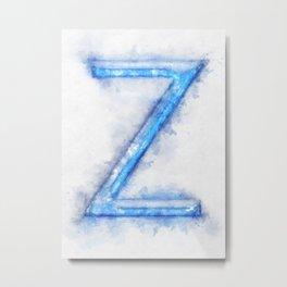Z Letter Metal Print