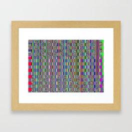 Old TV screen error glitch effect Framed Art Print