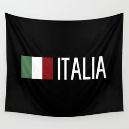 Italy: Italia & Italian Flag Wall Tapestry