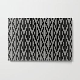 Black grey triangles pattern graphic Metal Print