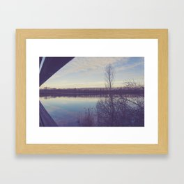 A perspective on the lake Framed Art Print