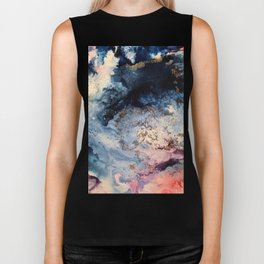 Rage - Alcohol Ink Painting Biker Tank