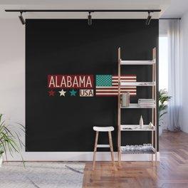 Patriotic Colors: Alabama Wall Mural