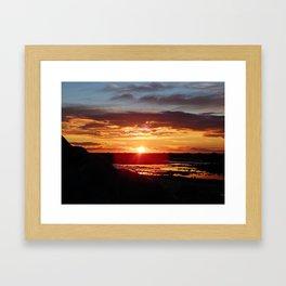 Ground Level Sunset Framed Art Print