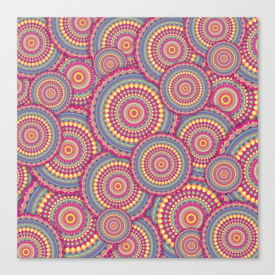 Pink Mandala Hippie Pattern Canvas Print
